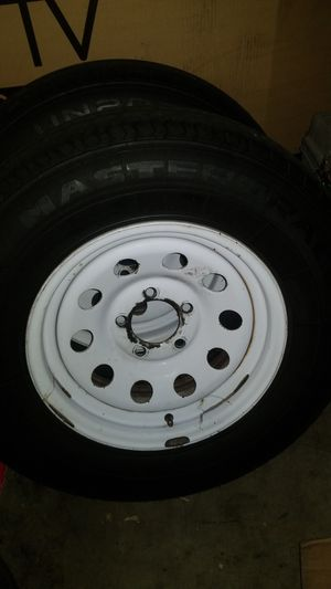 5 lug 14 inch trailer wheels and tires for Sale in El Mirage, AZ