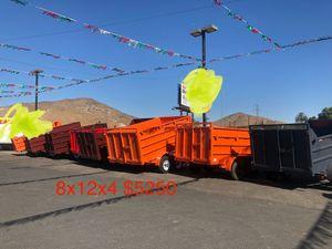 New Dump Trailer 8x12x4 12000 lb gvw $5250 for Sale in Whittier, CA