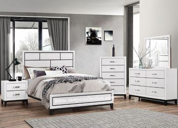 NEW, Queen Size Bed Frame, White, SKU# B4610-SET for Sale in Westminster,  CA