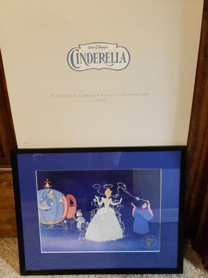 Commemorative Disney Cinderella lithographs for 1996 for Sale in Austin, TX