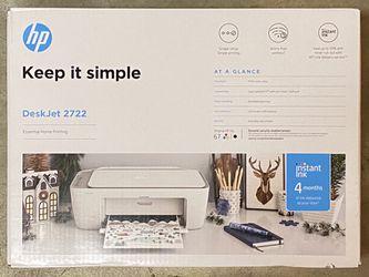 HP DeskJet 2722 All-in-One Printer, White for Sale in Bellevue,  WA