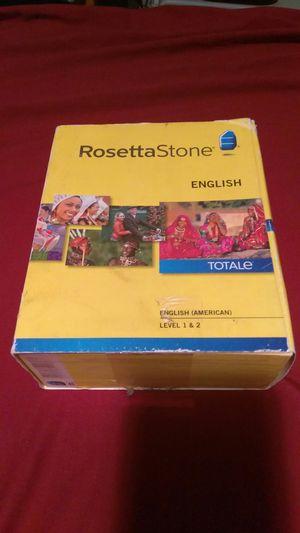 Rosetta Stone English Level 1&2 for Sale in Jacksonville, FL