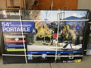 """Spalding NBA 54"""" Portable Angled Basketball Hoop with Polycarbonate Backboard for Sale in San Diego, CA"""