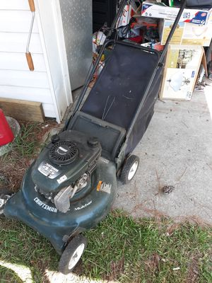 Craftsman easy start lawn mower runs perfect new oil change carbs have been clean and new spark plug ready to go for Sale in Portsmouth, VA