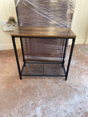 INDESTIC Side Table, Narrow Small End Table with Mesh Shelf, Nightstand, for Sale in Corona, CA