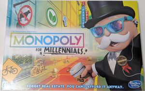 Monopoly for Millennials Board Game for Sale in El Centro, CA