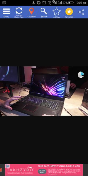 Asus Gaming Laptop GTX 1080 RGB keyboard 120hz screen GL702VI-WB74 for Sale in Alhambra, CA
