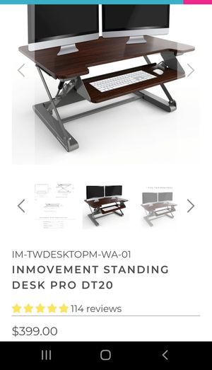 Sit stand desk mount for Sale in Chicago, IL