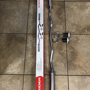Brand New Inbox Olympic Ez Easy Bicep Curl Bar Barbell for Sale in San Diego, CA