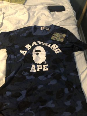 Blue bape shirts. Men small for Sale in Tampa, FL