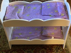 18 inch Doll Bunk bed fits American Girl Doll for Sale in Houston, TX