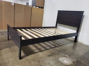 FULL SIZE Wood Platform Bed with Headboard / No Box Spring Needed / Wood Slat Support, Cappuccino| 7582F-CP for Sale in Santa Ana, CA