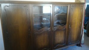 Antique cabinet armoire display storage glass doors for Sale in Bellevue, WA