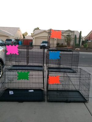 Dog kennel crate cage house NEW Large foldable in Phoenix for Sale in Phoenix, AZ