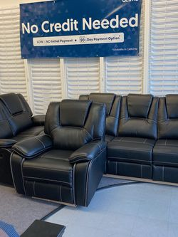 Brand New Black Reclining Sofa, Loveseat, And Chair for Sale in Maryland Heights,  MO