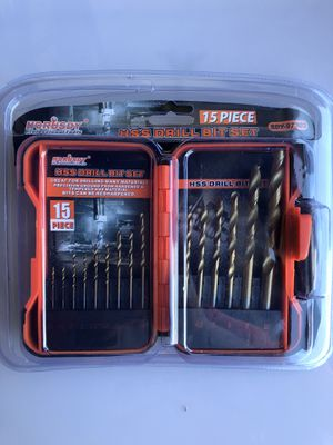 15 Piece HSS Drill Bit Set. Brand New. Fathers day gift. for Sale in Los Angeles, CA