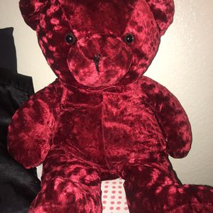 Red Suede Teddy Bear for Sale in Rialto, CA