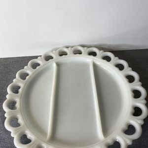 Divided Milk Glass Plate for Sale in Sacramento, CA