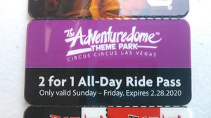 Circus circus adventuredome 2 for 1 coupons for Sale in Las Vegas, NV