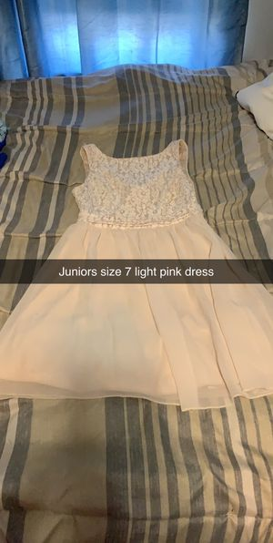 Juniors size 7 light pink dress for Sale in Montgomery, PA