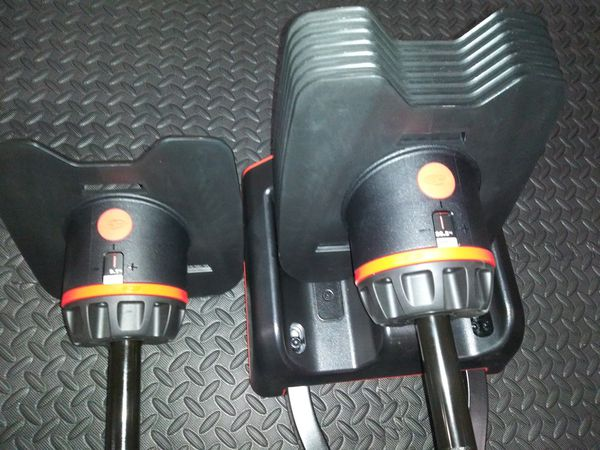 New Bowflex select tech 2080 barbell and curl bar.