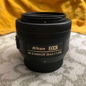 Nikon 35mm 1:1:8G lens for Sale in Flowery Branch, GA