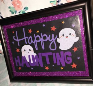 "5""x7"" Halloween themed framed craft for Sale in Pulaski, TN"