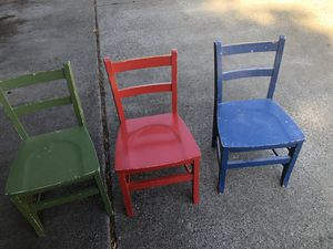 3 wood kids chair for Sale in Morgan Hill, CA