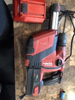 Hammer drill Hilti te 6-a36 battery and charger included for Sale in Houston, TX