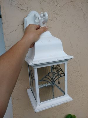 Single outdoor lantern. White. Metal for Sale in Fort Myers, FL