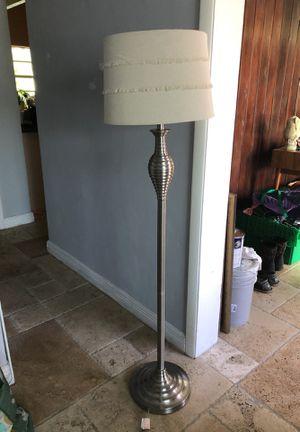 Satin Chrome Floor Lamp for Sale in Miami, FL