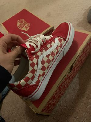 Vans Red CHECKERBOARD SIZE 7.5 USED ONCE ! for Sale in Malvern, PA