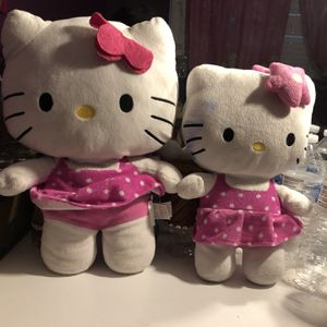 Two Middle Size Hello Kitty Plushies for Sale in Phoenix, AZ