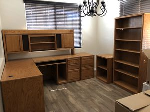 Solid Oak Home Office Set for Sale in Surprise, AZ