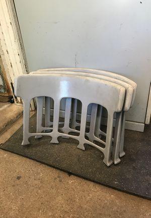 Antique cast aluminum chair backs for Sale in Claremont, CA