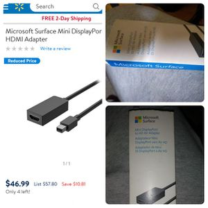 Microsoft Surface® Mini Display Port to HD Adapter for Sale in Houston, TX