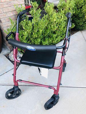 Invacare Lightweight Rollator Walker w/Seat model 65650r for Sale in Rancho Cucamonga, CA