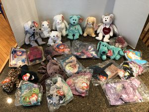 Lot of 23 Beanie Babies Full Size and Mini One Price is for All for Sale in Manassas, VA