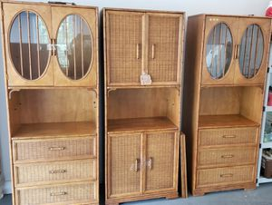 Cabinets/bookshelves set of 3 for Sale in Kennesaw, GA