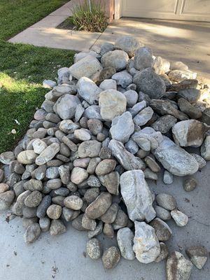 About 3 yards or more of River rock for Sale in Redlands, CA