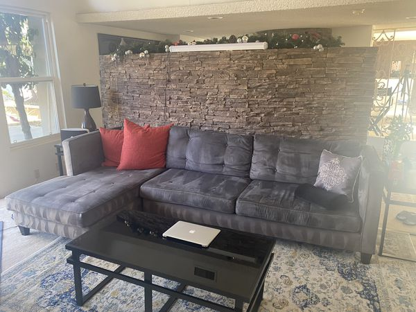 Gray Suede Couch