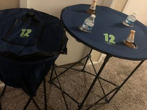 Seahawks Foldable Round Table With Carry Bag. for Sale in Kent, WA