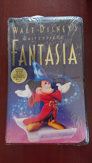 Brand new Sealed Walt Disney's Fantasia Masterpiece (VHS, 1991) for Sale in Vacaville, CA