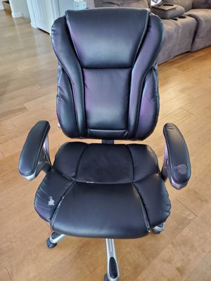 High-backed office chair on casters for Sale in Kirkland, WA