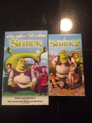 Shrek VHS set for Sale in Spring Hill, FL