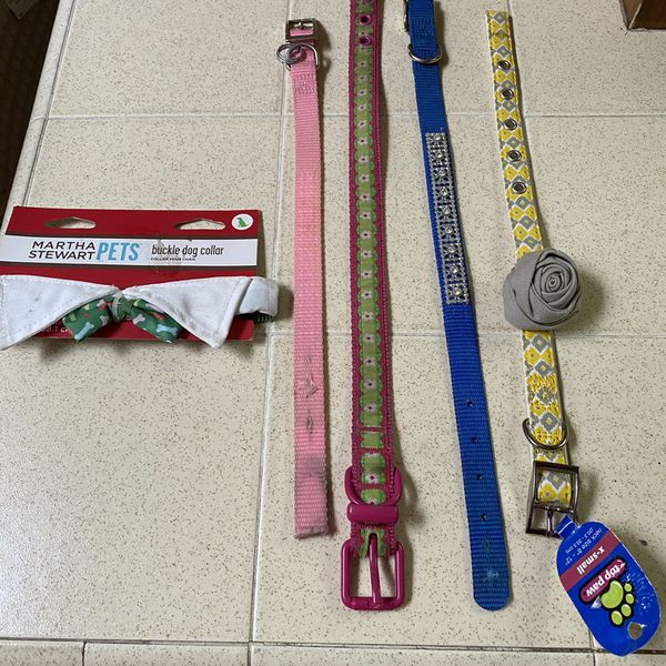 5 Different Sizes Dog Collars 2 New- 3 Slightly Used $3 Each
