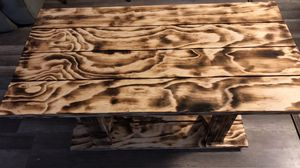 Handcrafted Torched coffee table for Sale in Lacey Township, NJ