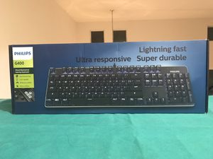 Philips G400 Backlit Mechanical Keyboard Blue Switch for Sale in Elk Grove, CA