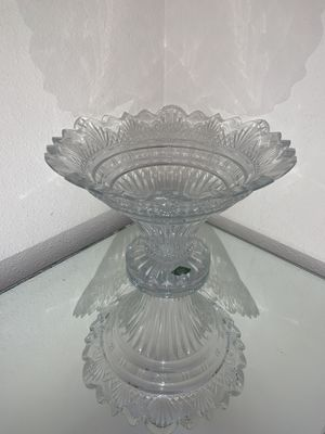 Crystal fruit dish made in szech for Sale in Newcastle, WA