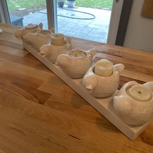 Candle Decor-white birds for Sale in Lockport, IL